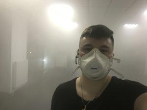 Обработка сухим туманом, удаление запаха
